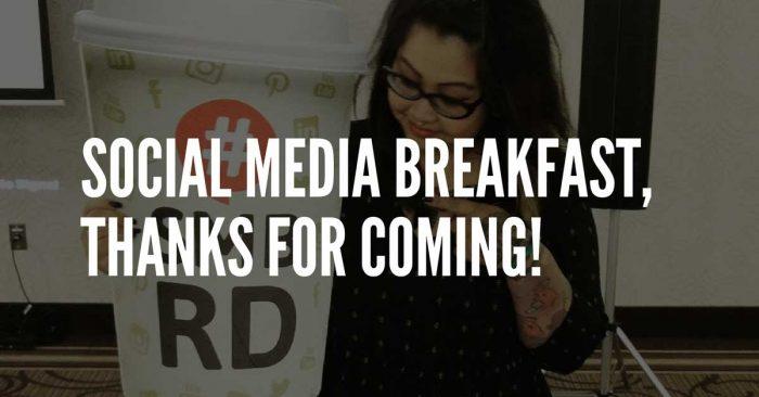 social media breakfast red deer