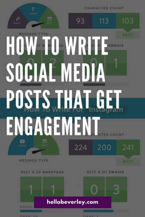 Take into consideration character count, hashtags, emojis and message type when publishing your next post. (Infographic inside!)