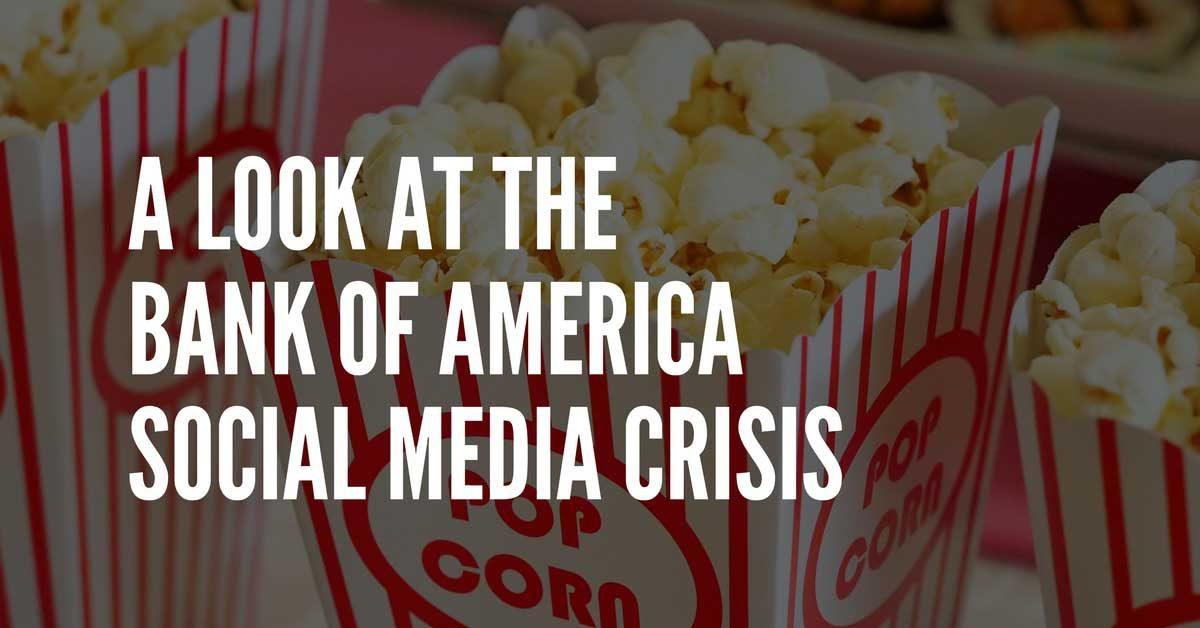 social media crisis bank of america
