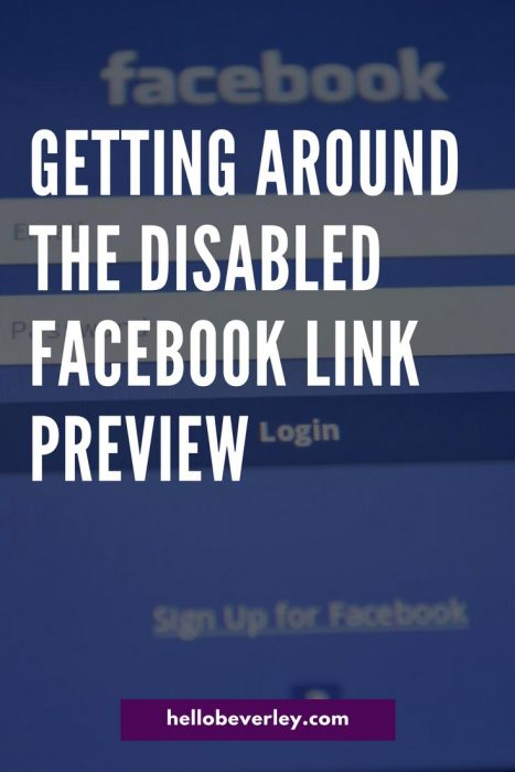 Getting Around the Pesky Facebook Link Preview Change | Edmonton