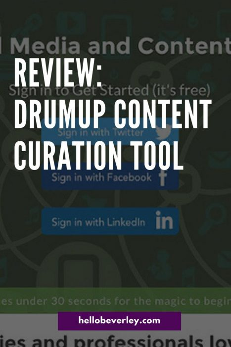 A content curation tool that will pull blog posts and news from around the internet for you to share on social media platforms.