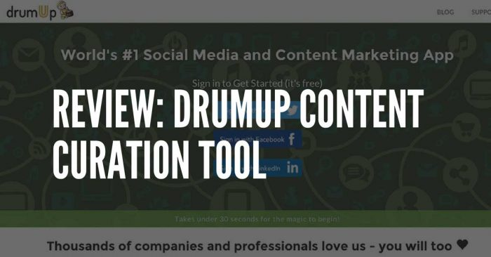 review of drumup.io