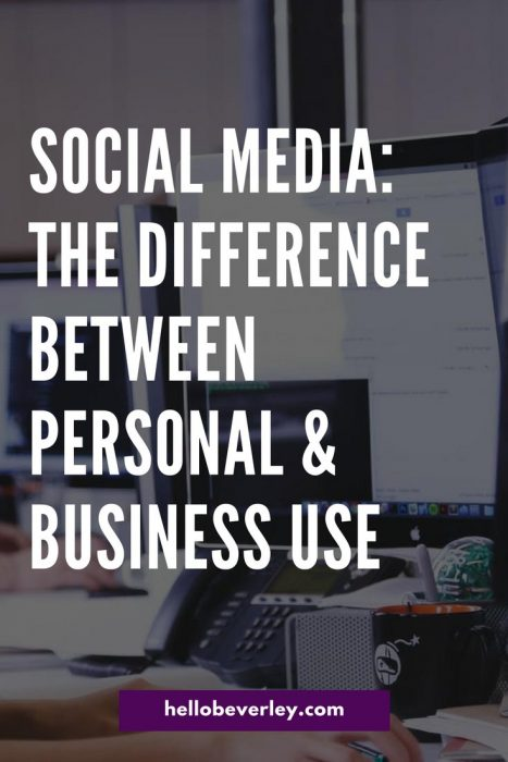 Not everyone uses social media the same way. Using social media marketing for a business varies vastly than using social media for yourself. There are really two main ways to use social media. One is for personal use and one is for professional, and they look really different!