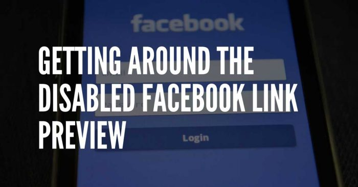 what to do when facebook won't let you customize links