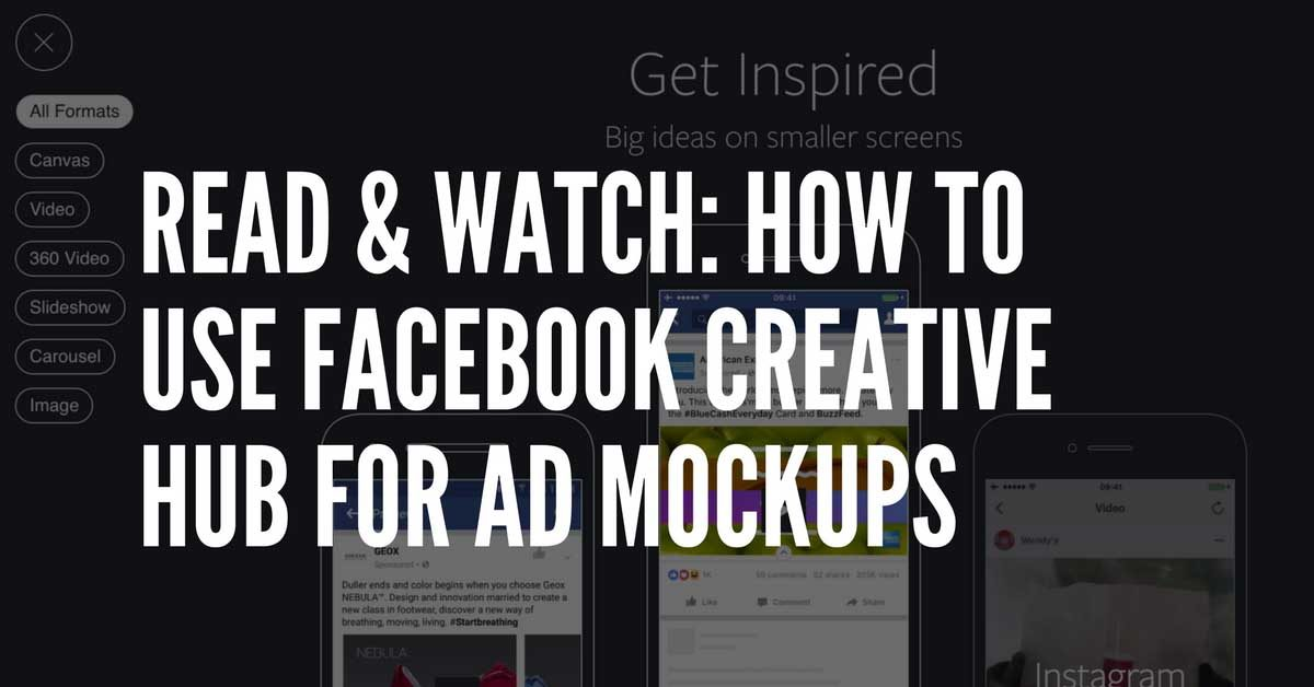 how to use facebook creative hub