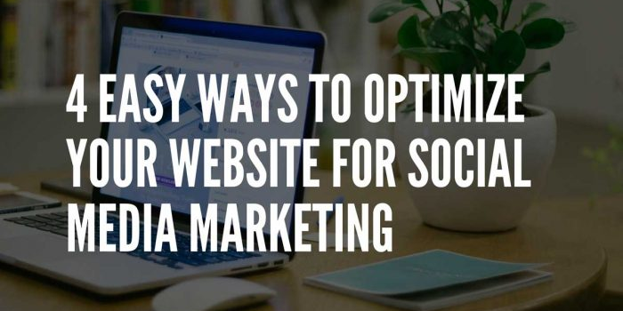 how to optimize your website for social media