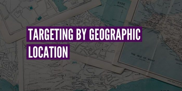 geographic location targeting