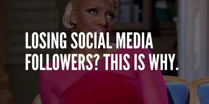 social media unfollows