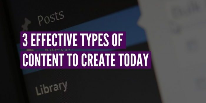 types of content to create