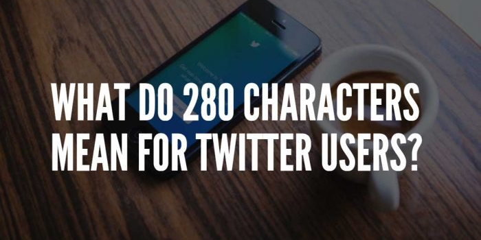 twitter changes to 280 characters